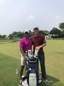 Kam Bhabra Justin Rose at the Indonesian Masters
